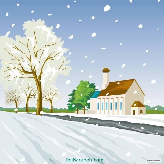 نقاشی برف و زمستان (۲۰)
