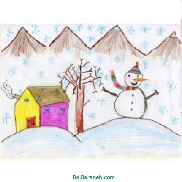 نقاشی برف و زمستان (۲۵)
