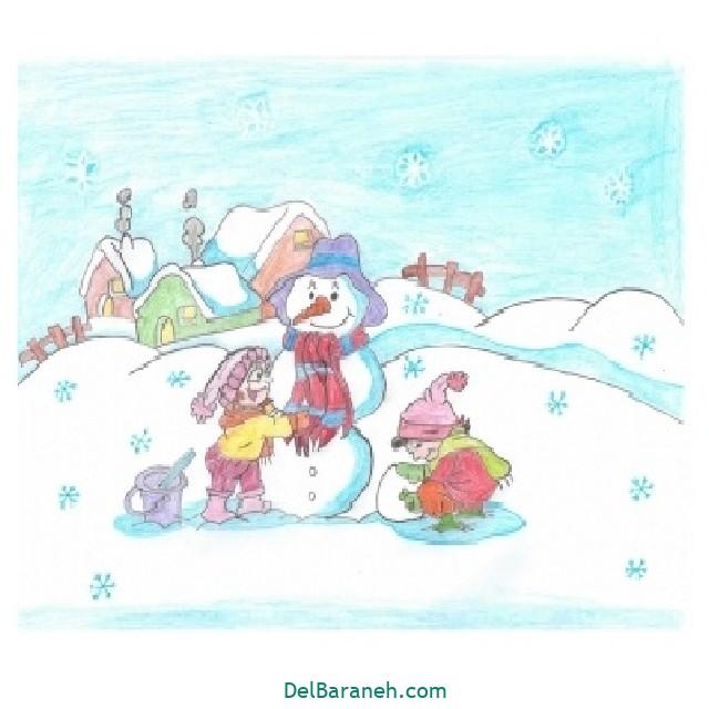 نقاشی برف و زمستان (۲۶)
