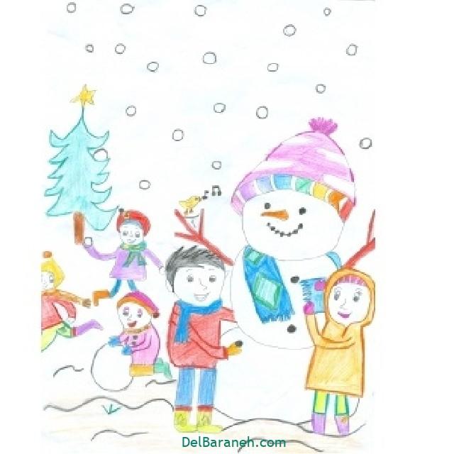 نقاشی برف و زمستان (۲۷)