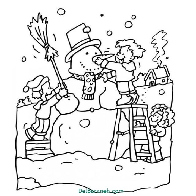نقاشی برف و زمستان (۳)