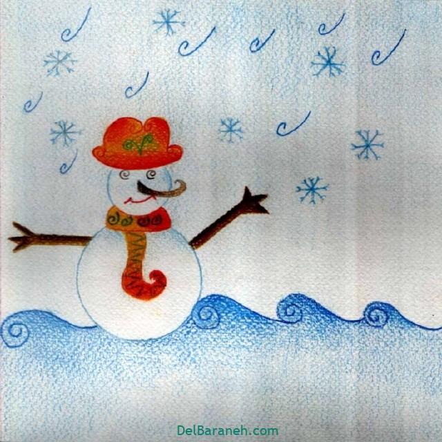نقاشی برف و زمستان (۳۰)
