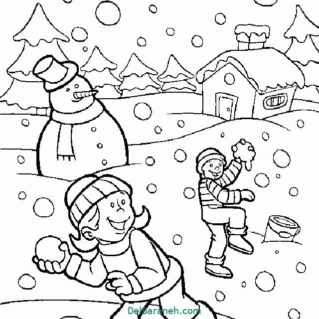 نقاشی برف و زمستان (۴)