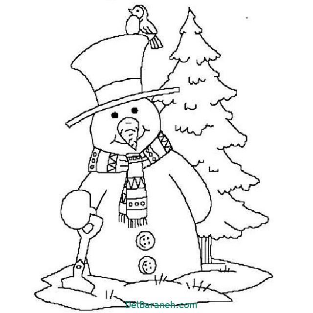 نقاشی برف و زمستان (۶)