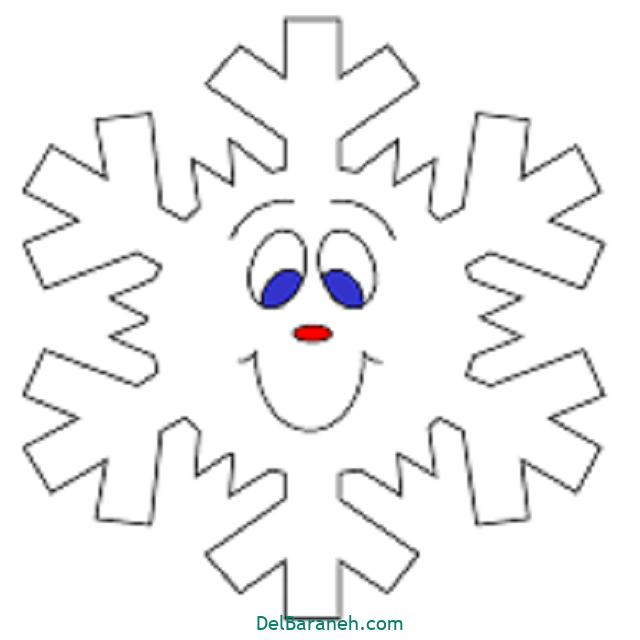 نقاشی دانه برف