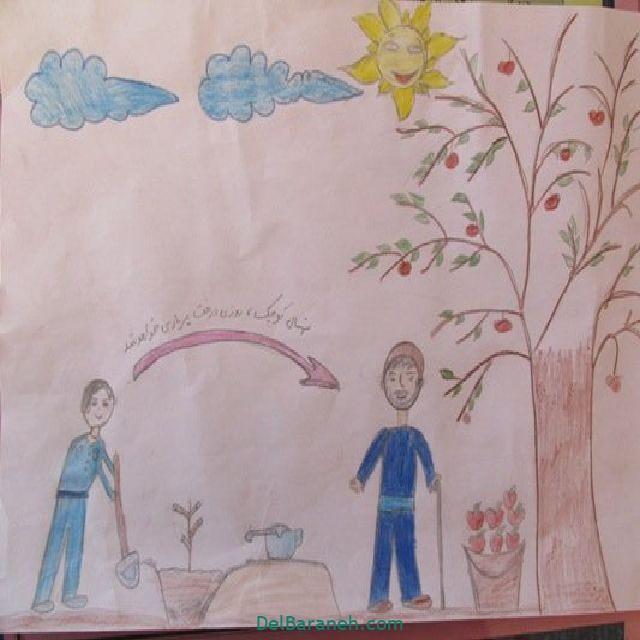 نقاشی درخت درختکاری (۱۷)
