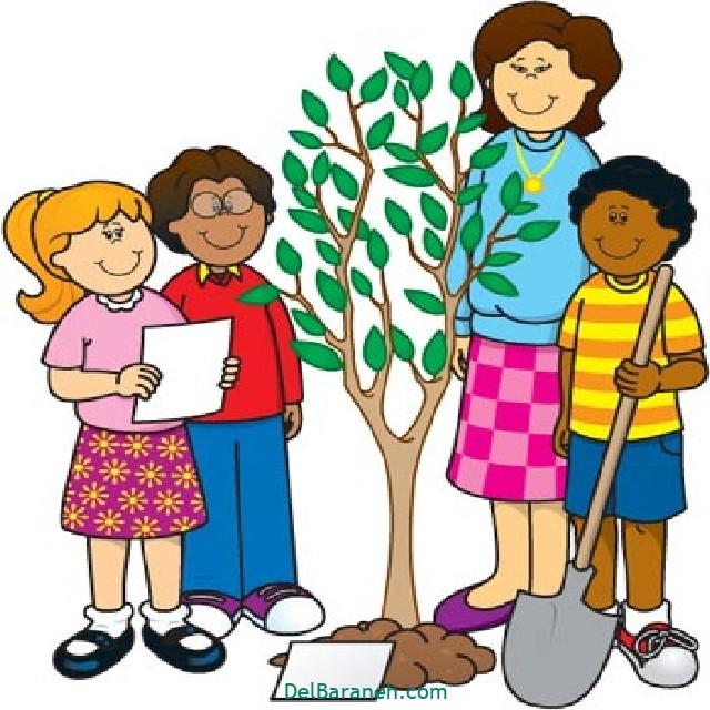 نقاشی درخت درختکاری (۲)