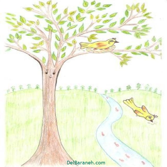 نقاشی درخت درختکاری (۲۰)