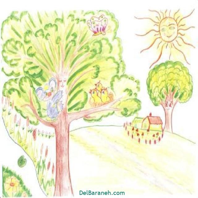 نقاشی درخت درختکاری (۲۱)