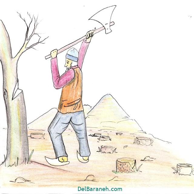 نقاشی درخت درختکاری (۲۳)