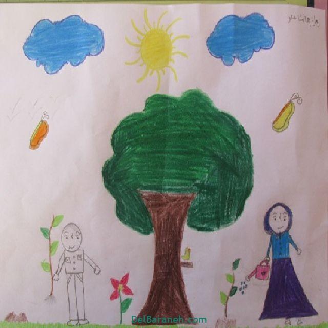 نقاشی درخت درختکاری (۲۴)