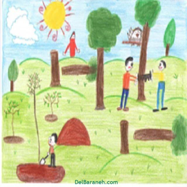 نقاشی درخت درختکاری (۲۶)