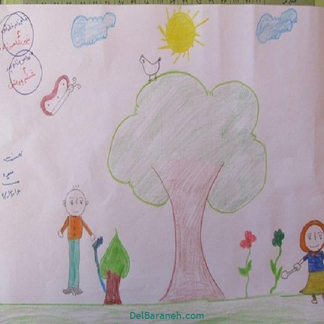 نقاشی درخت درختکاری (۲۹)