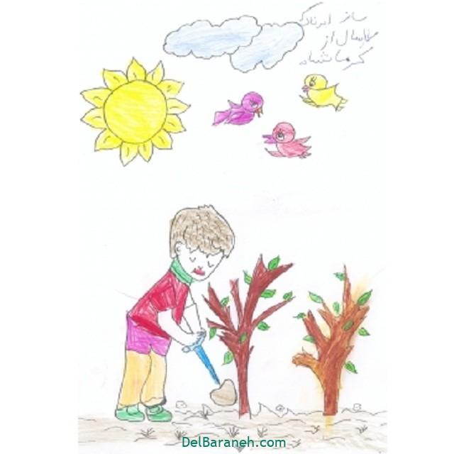 نقاشی درخت درختکاری (۳۲)