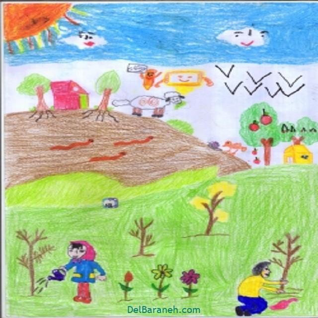 نقاشی درخت درختکاری (۳۳)