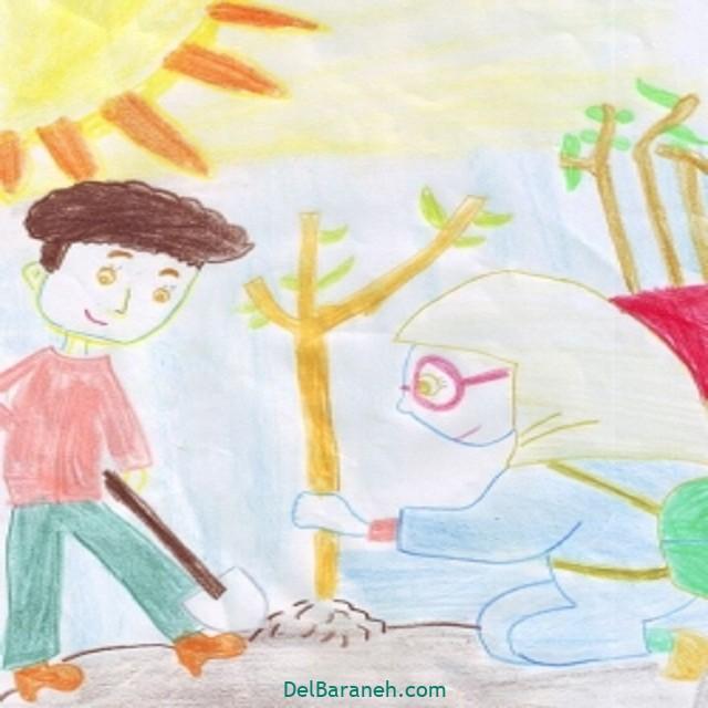 نقاشی درخت درختکاری (۳۶)
