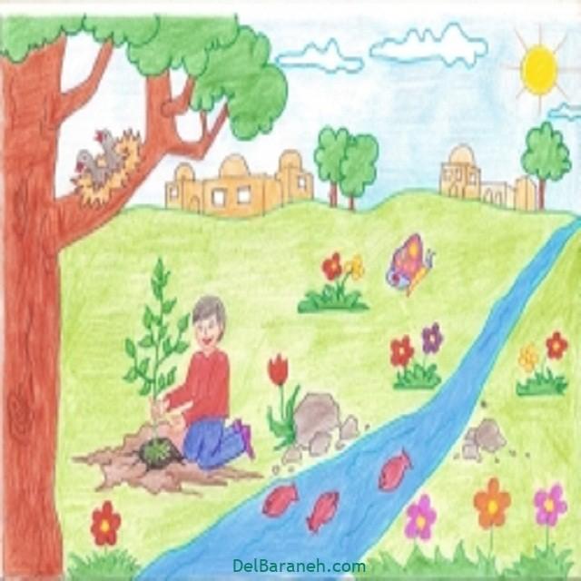 نقاشی درخت درختکاری (۳۷)