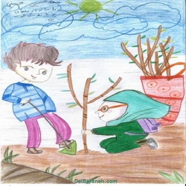 نقاشی درخت درختکاری (۳۸)