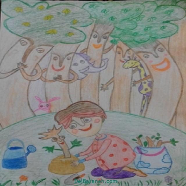 نقاشی درخت درختکاری (۴۲)