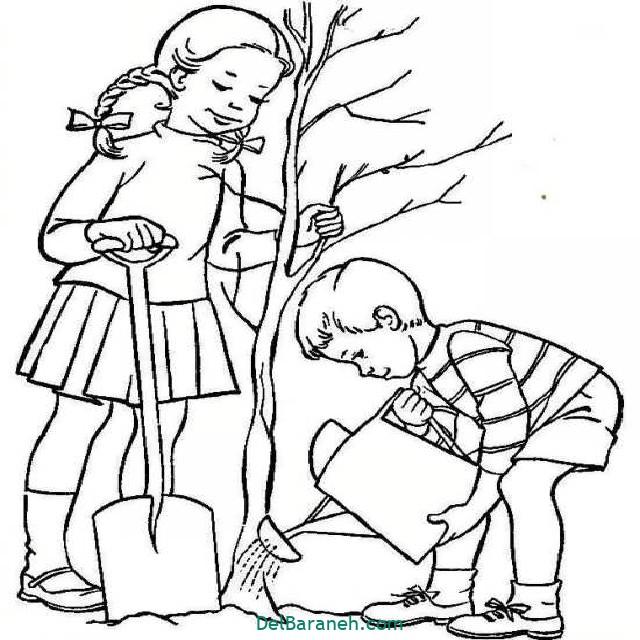 نقاشی درخت درختکاری (۵۱)