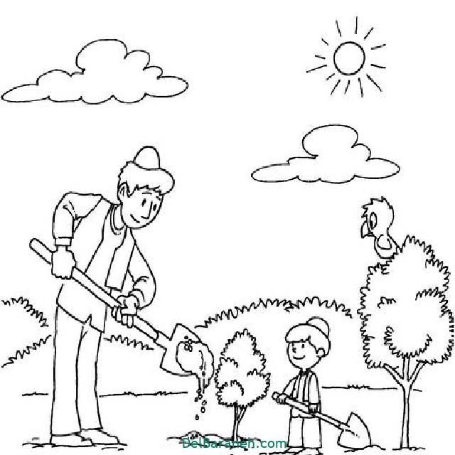 نقاشی درخت درختکاری (۵۲)