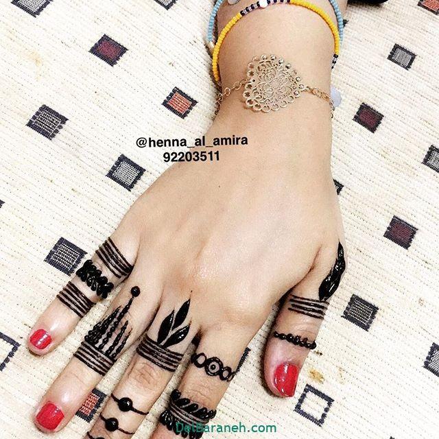 نقش حنا روی دست (۱۰)