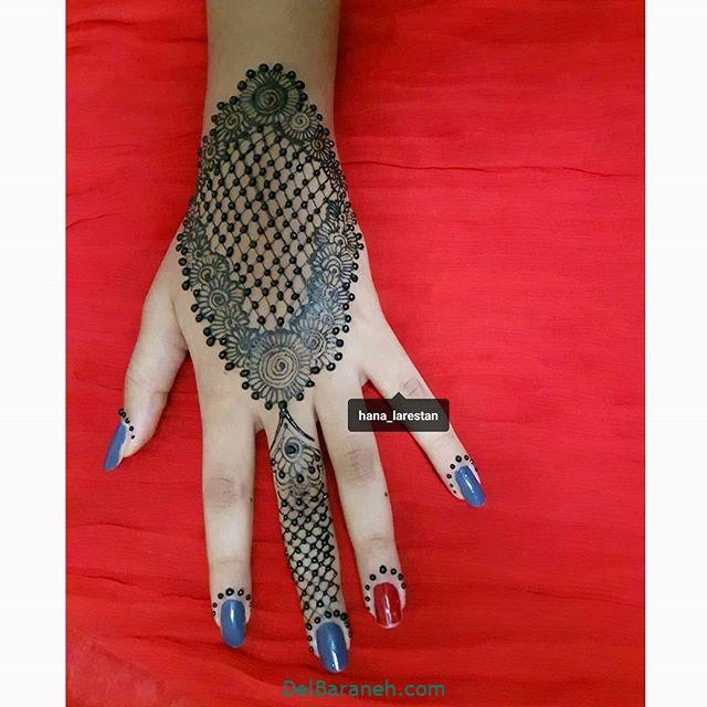 نقش حنا روی دست (۱۲)