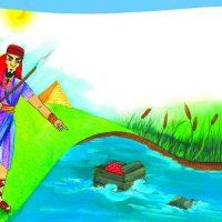 نقاشی حضرت موسی | ۲۵ نقاشی و رنگ آمیزی از داستان حضرت موسی + داستان