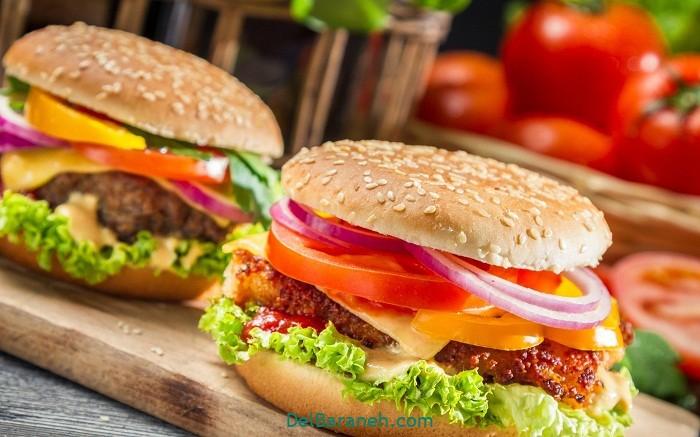 طرز تهیه همبرگر خانگی ساده