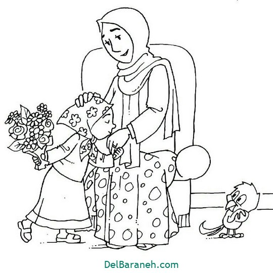 روز مادر رنگ آمیزی
