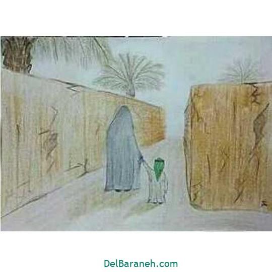 نقاشی حضرت زهرا (۱۷)