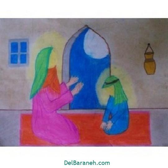 نقاشی حضرت زهرا (۱۸)
