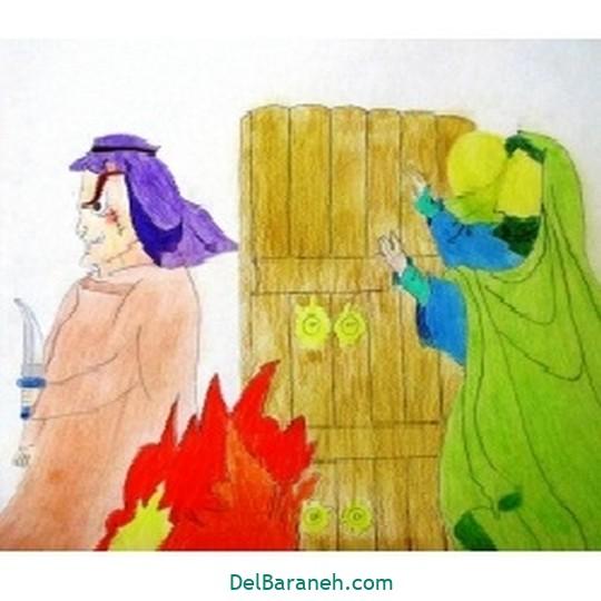 نقاشی حضرت زهرا (۲۰)