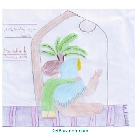 نقاشی حضرت زهرا (۲۱)