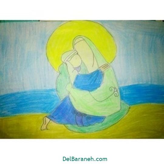 نقاشی حضرت زهرا (۲۳)
