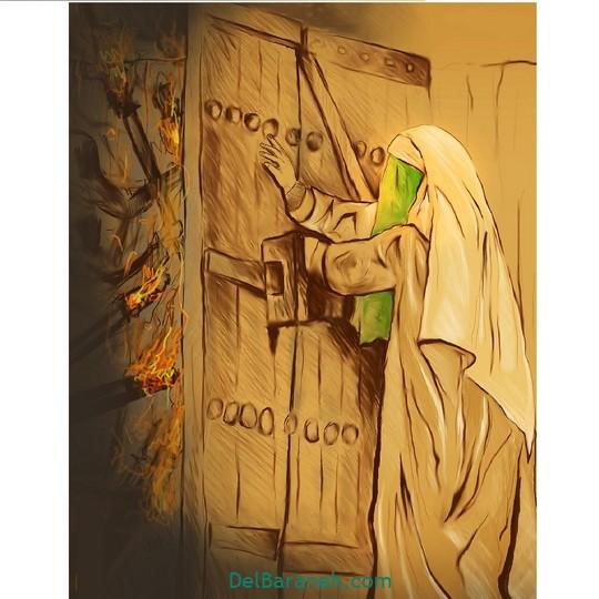 نقاشی حضرت زهرا (۴)