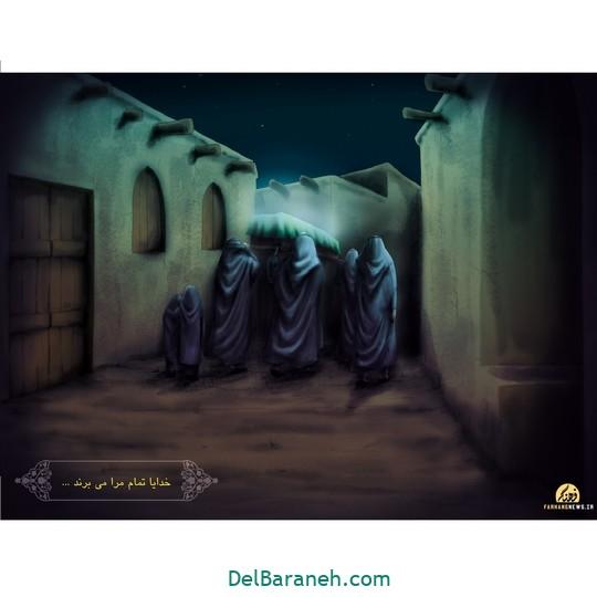 نقاشی حضرت زهرا (۸)
