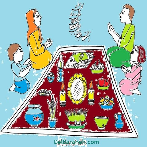 نقاشی هفت سین عید نوروز (۳)