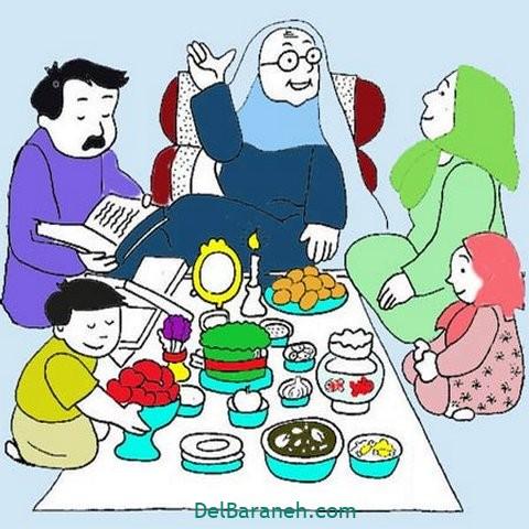 نقاشی هفت سین عید نوروز (۷)