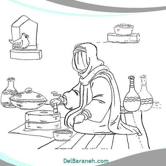 نقاشی و رنگ آمیزی حضرت زهرا (۱۲)
