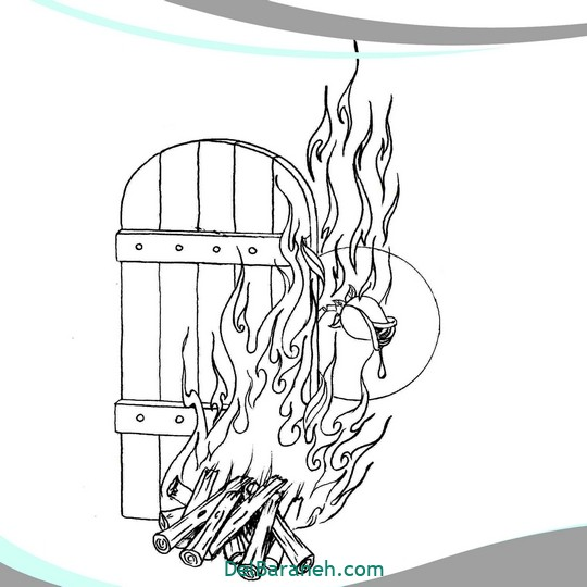 نقاشی و رنگ آمیزی حضرت زهرا (۱۳)