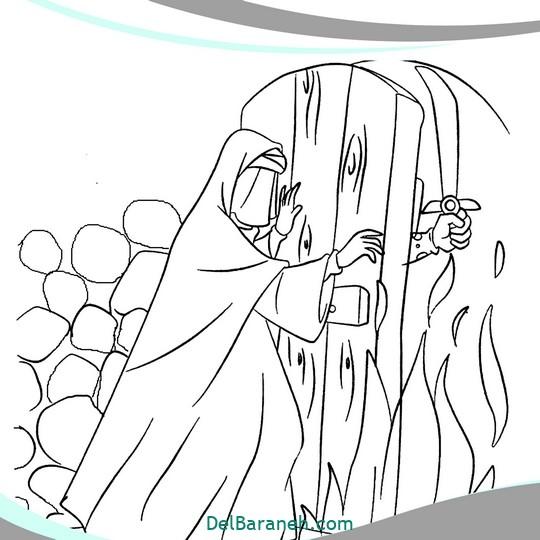 نقاشی و رنگ آمیزی حضرت زهرا (۱۴)