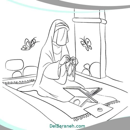 نقاشی و رنگ آمیزی حضرت زهرا (۱۵)