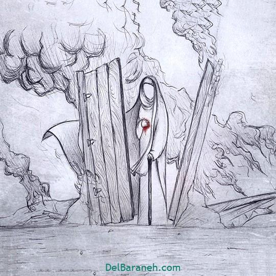 نقاشی برای حضرت زهرا سلام الله علیها