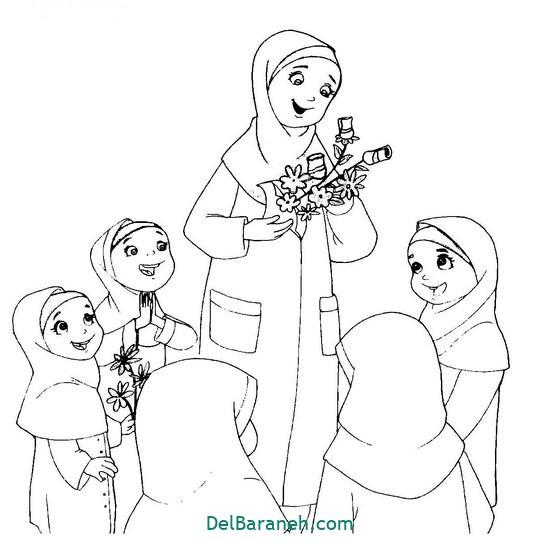 نقاشی روز معلم رنگ آمیزی(۱۳)