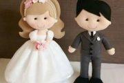 عروس داماد نمدی | ۵۰ مدل عروسک نمدی و گیفت عروس و داماد