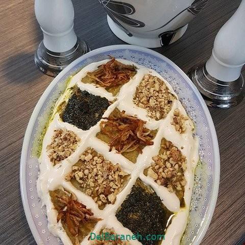 تزیین حلیم بادمجان (۱۰)