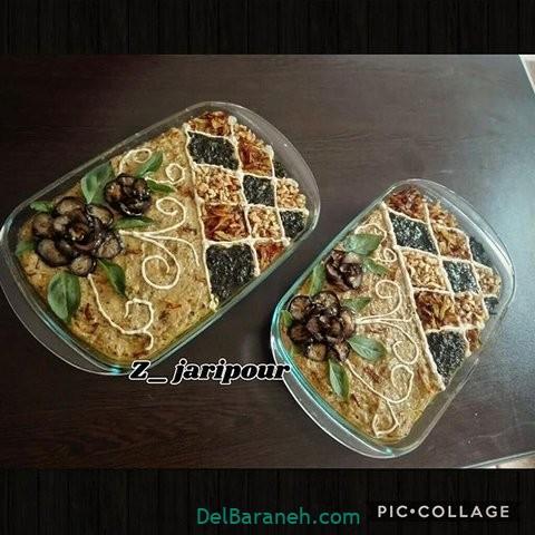 تزیین حلیم بادمجان (۲۹)