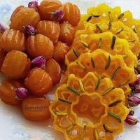 تزیین زولبیا بامیه | ۳۵ ایده زیبا و ساده برای تزیین بامیه زولبیا و خرما افطار