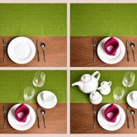 تزیین میز ناهار خوری عروس | ۴۰ ایده چیدن میز ناهارخوری جهیزیه عروس